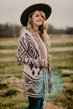 Load image into Gallery viewer, 'Stella' Aztec Cardigan Sweater with Waist Tie (2 Colours)