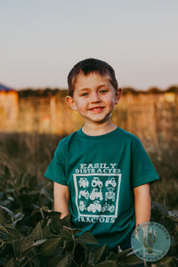 Easily Distracted by Tractors T-shirt (Toddler, Youth, and Adult Sizes)