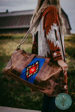 Load image into Gallery viewer, The Sonoran Aztec Wool Accented Leather Traveller Bag