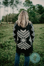 Load image into Gallery viewer, The 'Bluff' Blanket Aztec Cardigan with Fringe