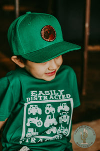 Leather Tractor Patch Hat - Youth (Multiple Colours)