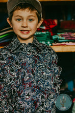 Load image into Gallery viewer, Boys Paisley CINCH Western Button Up Shirt