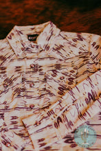 Load image into Gallery viewer, Girls Pink, Lavender, and Peach Printed Western Snap Shirt