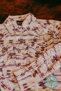 Girls Pink, Lavender, and Peach Printed Western Snap Shirt