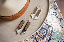 Load image into Gallery viewer, The 'Cattle Barons' Leather and Cowhide Earrings
