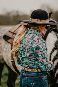 'Ransom Canyon' Aztec Pearl Snap Western Shirt