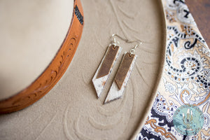 The 'Cattle Barons' Leather and Cowhide Earrings