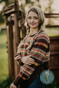 'Harvest Moon' Aztec Round Sweater (1 Size M Only)