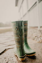 Load image into Gallery viewer, Pendleton Classic Diamond River Tall Rain Boot (Sage)