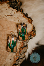 Load image into Gallery viewer, Cold Cactus Exclusive Tooled Leather Logo Earrings