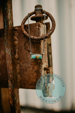 Load image into Gallery viewer, Genuine Turquoise and Sterling Silver Bar Necklace