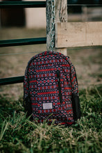 "Load image into Gallery viewer, Hooey ""Rockstar"" Backpack - Black and Red Geometric"