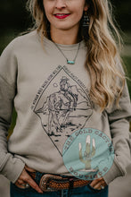 "Load image into Gallery viewer, ""Woman Who Walks Alone"" CC Exclusive Crewneck (XS & XL Only)"