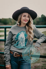 "Load image into Gallery viewer, ""Gritty Tough Cowgirl"" CC Exclusive Crewneck"