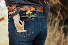 Load image into Gallery viewer, Floral Tooled Belt with Buckle