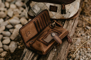 STS Cowhide Crossbody Wallet