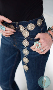 Stamped Adjustable Concho Belts (Various Styles)