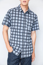 Load image into Gallery viewer, Plaid Butte Short Sleeve Button Down Shirt by Kimes Ranch (1 size L Only)