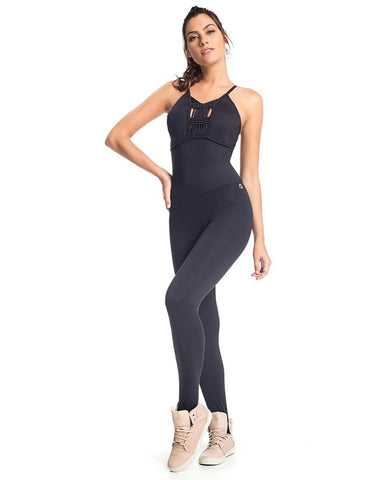 BLACK STING WORKOUT JUMPSUIT - SajKin