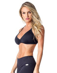 SPORTS BRA 133 PENCE BLACK - SajKin