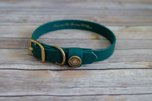 Over Under. Water Dog Collar Alpine Green