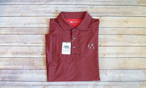 Onward Reserve UGA Pro Stripe Standing Bull Dog Polo Black & Red