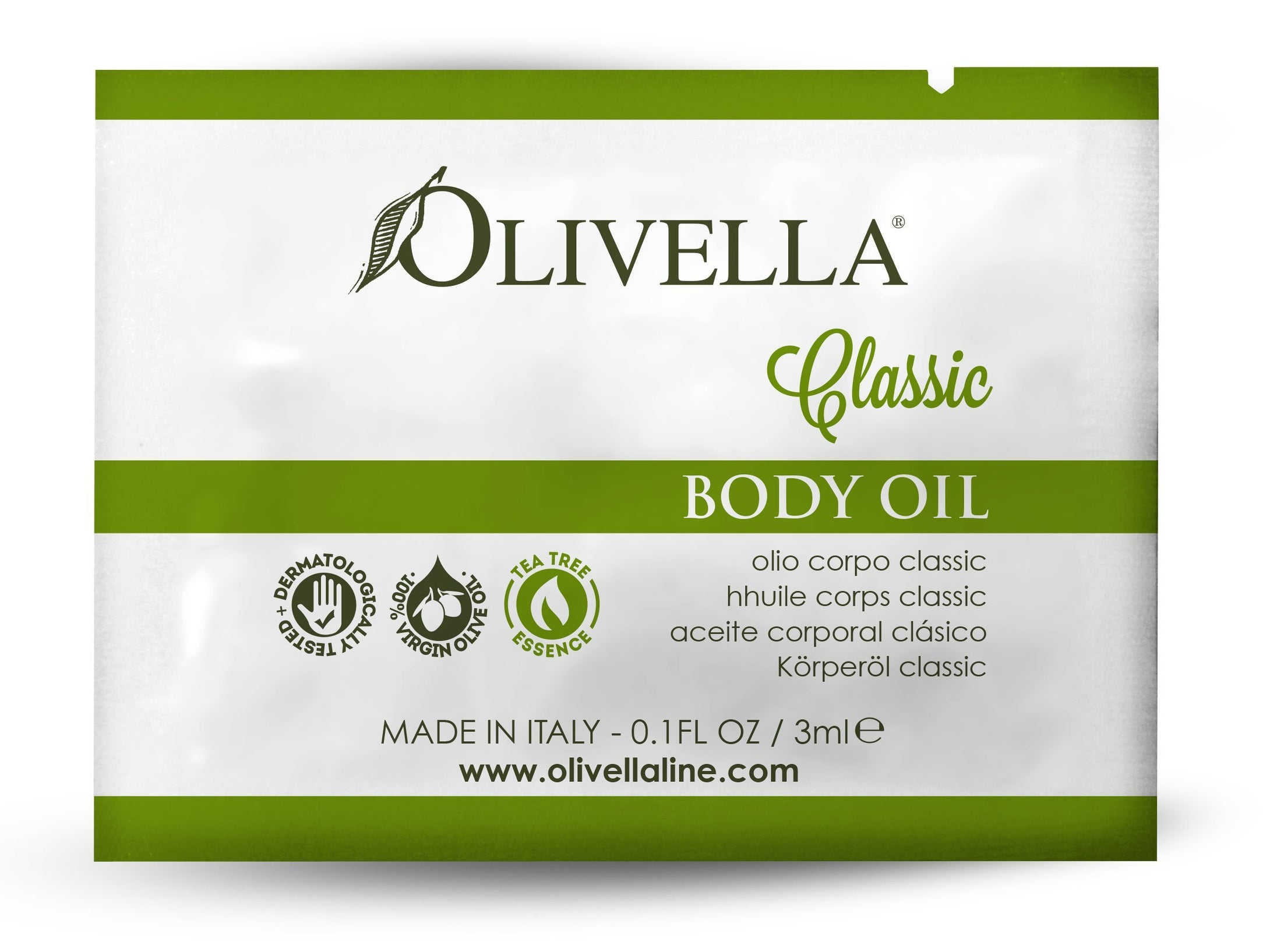 Classic Body Oil Sample - Olivella Official Store