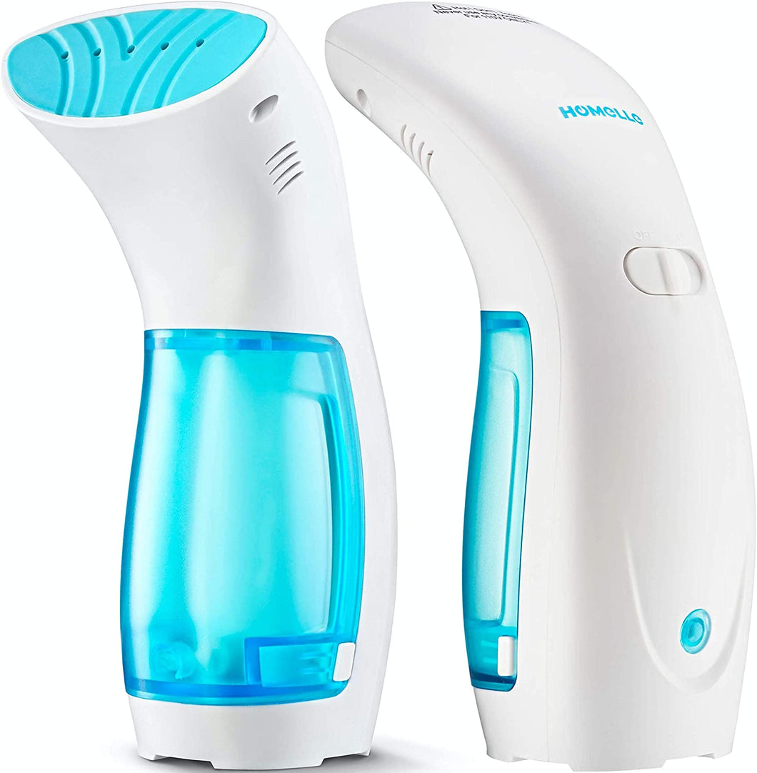 Travel Steamer for Clothes Handheld Garment Mini Steamer – Portable Steam Iron Fabric Wrinkles Remover – 25s Fast Heat-up – 120ml Water Tank – 950W – 360° Anti-Leak Ironing Pump System