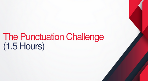 The Punctuation Challenge - 1.5 hours (.15 CEUs)