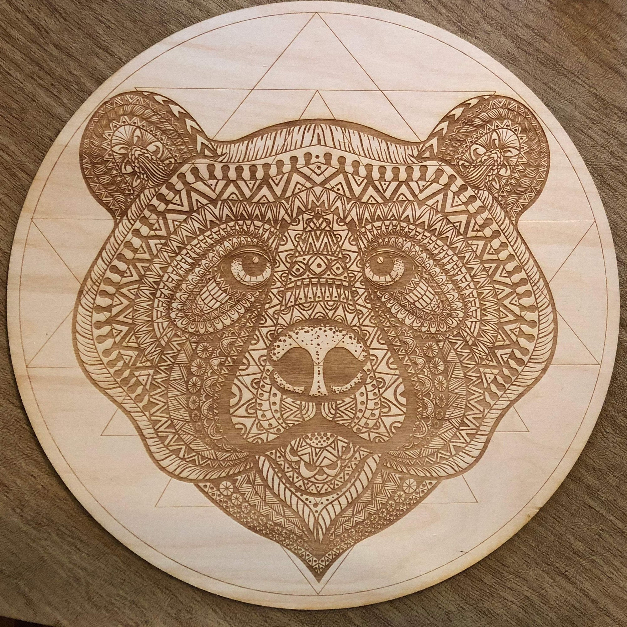 Bear Sri Yantra Crystal Grid