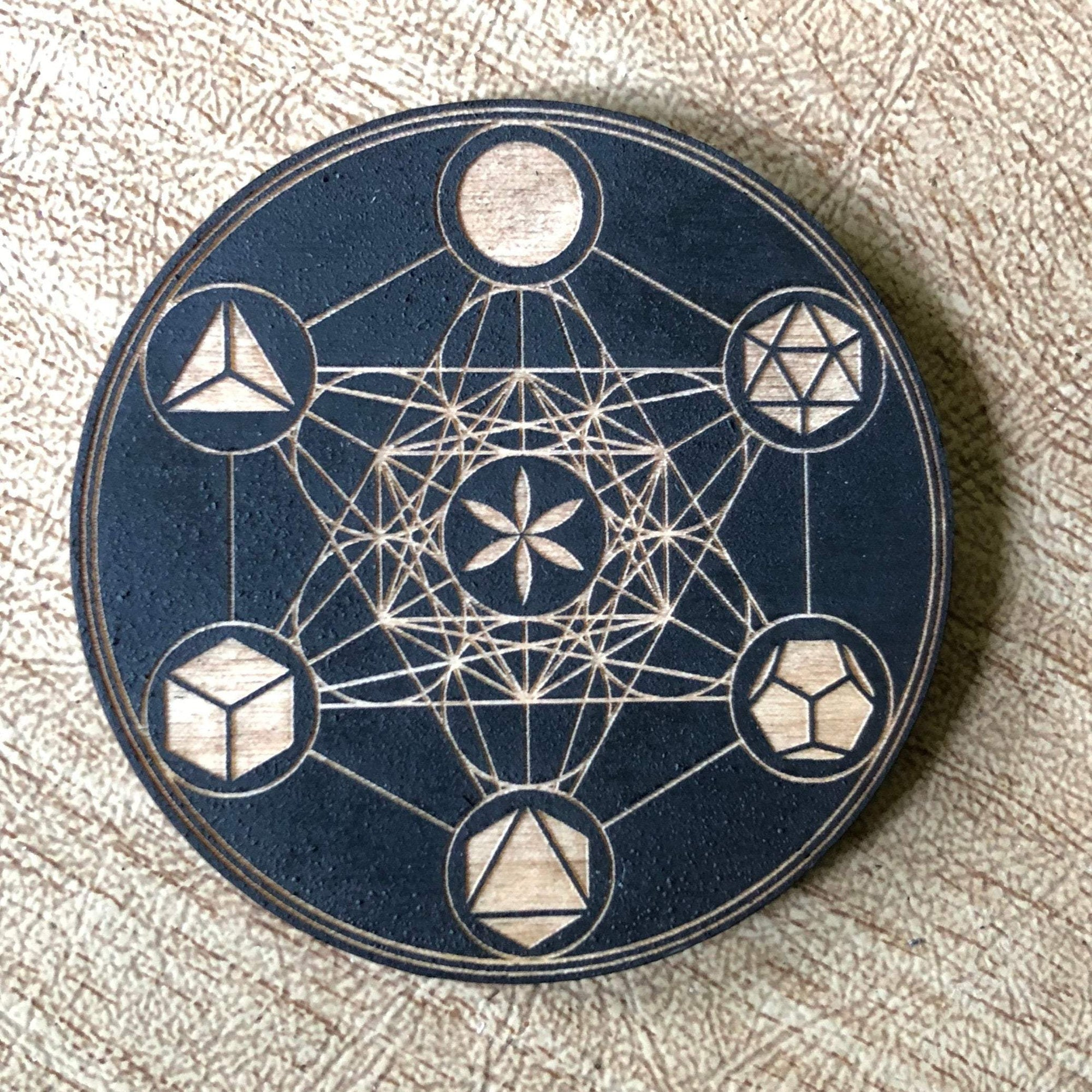 Painted Metatron's Cube Magnet