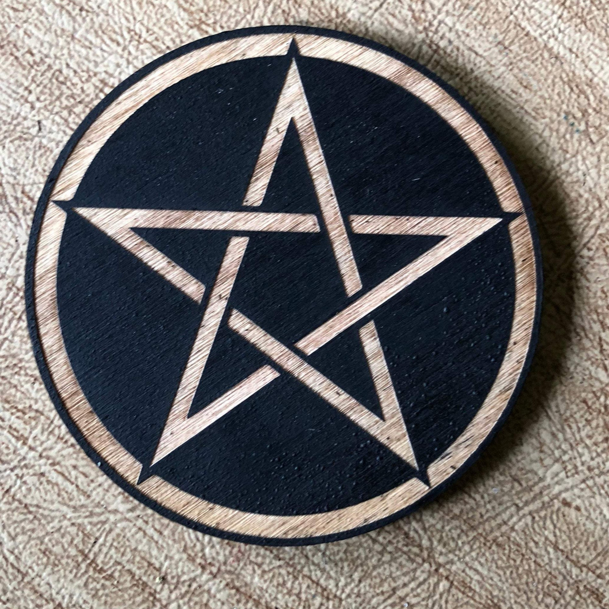 Painted Pentagram Magnet