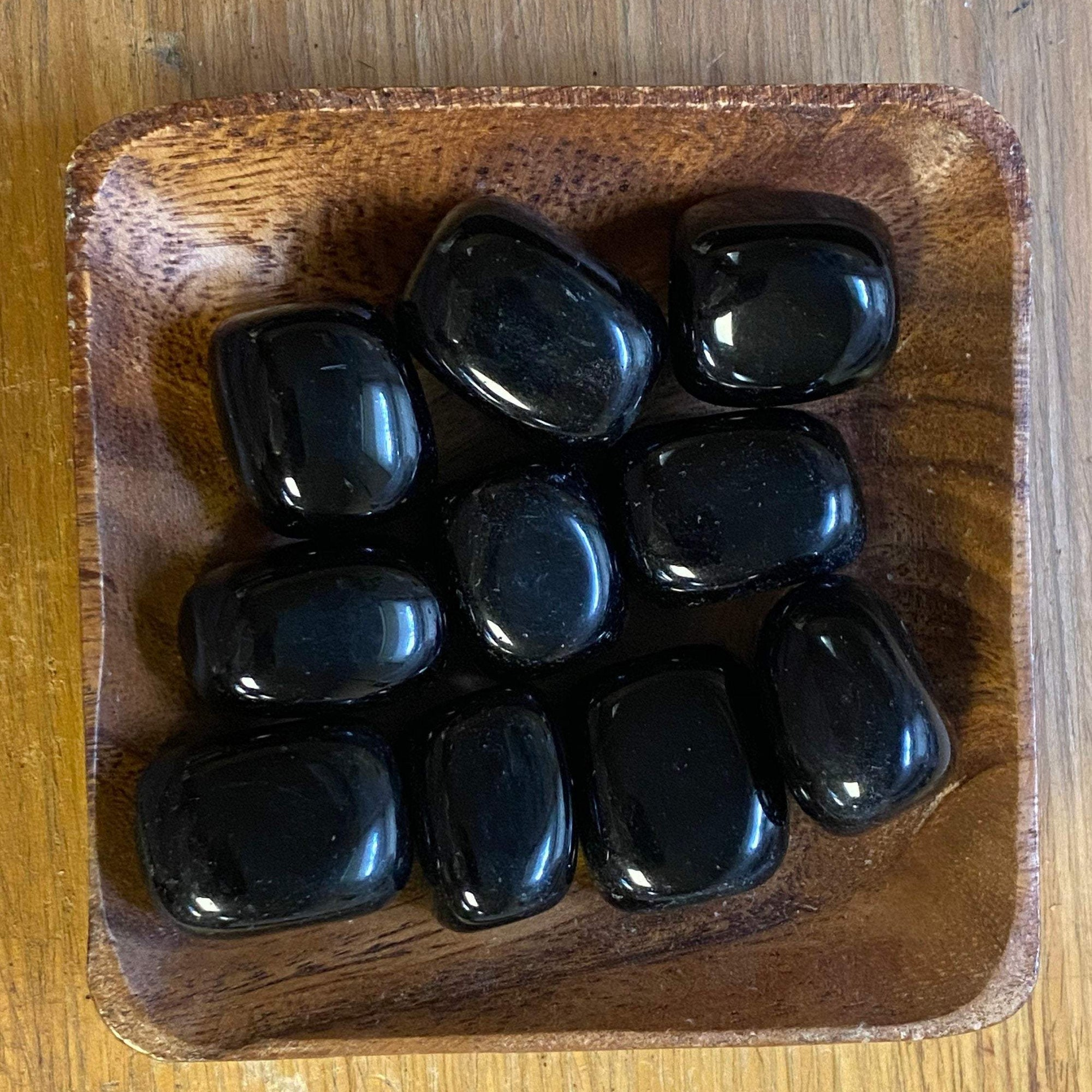 One Large Black Obsidian Tumbled