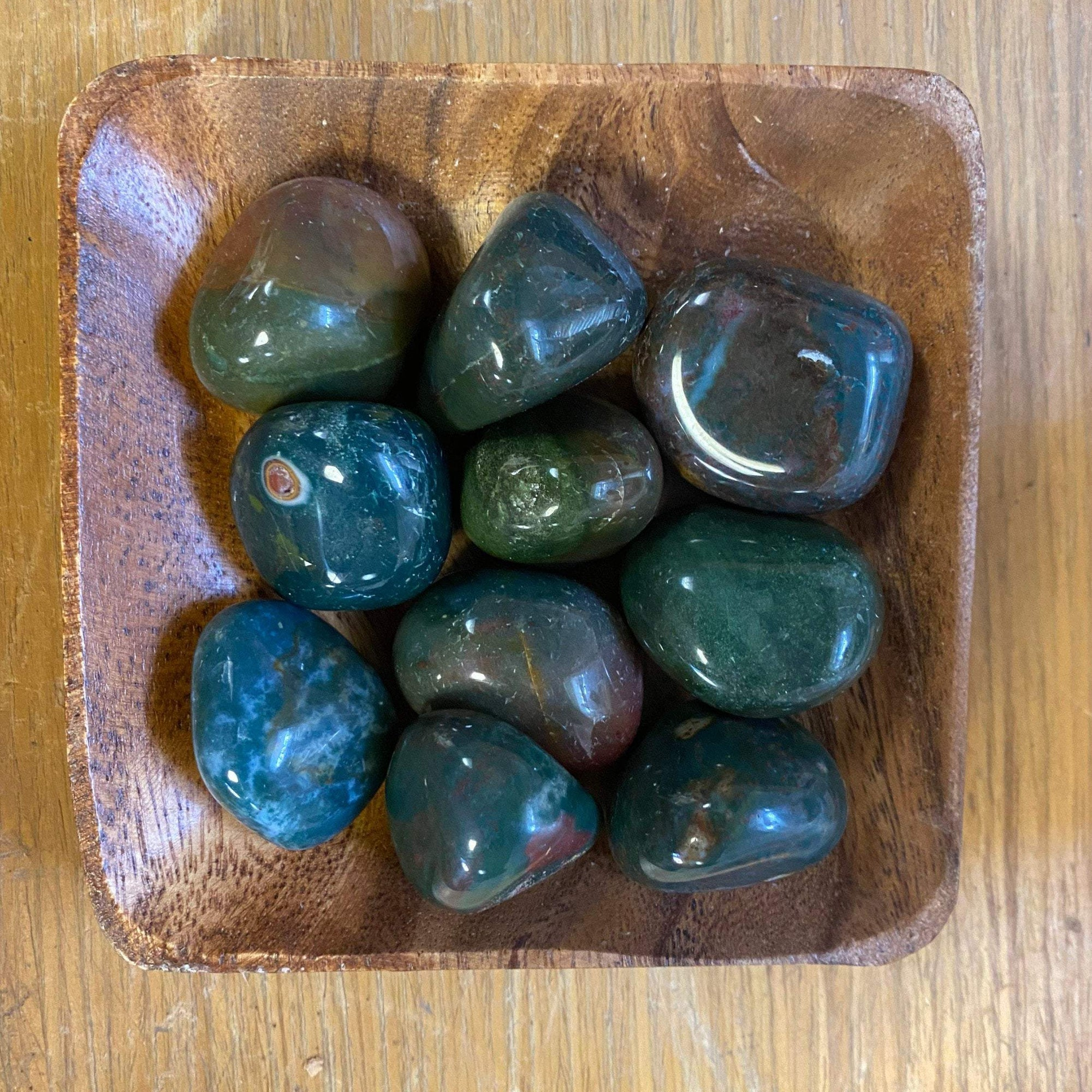 ONE LARGE Tumbled Bloodstone India