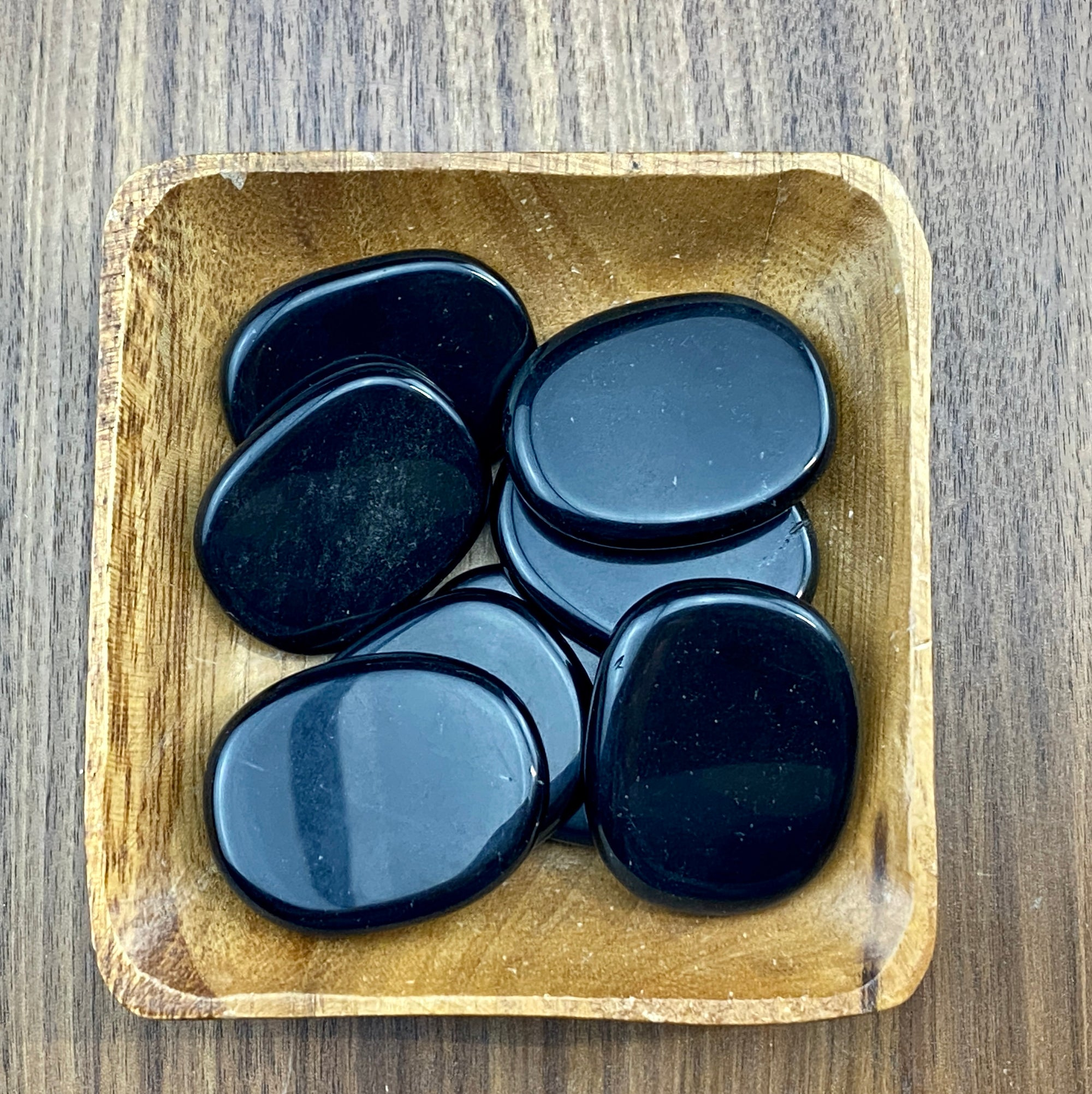 Black Obsidian Small Palm Stone