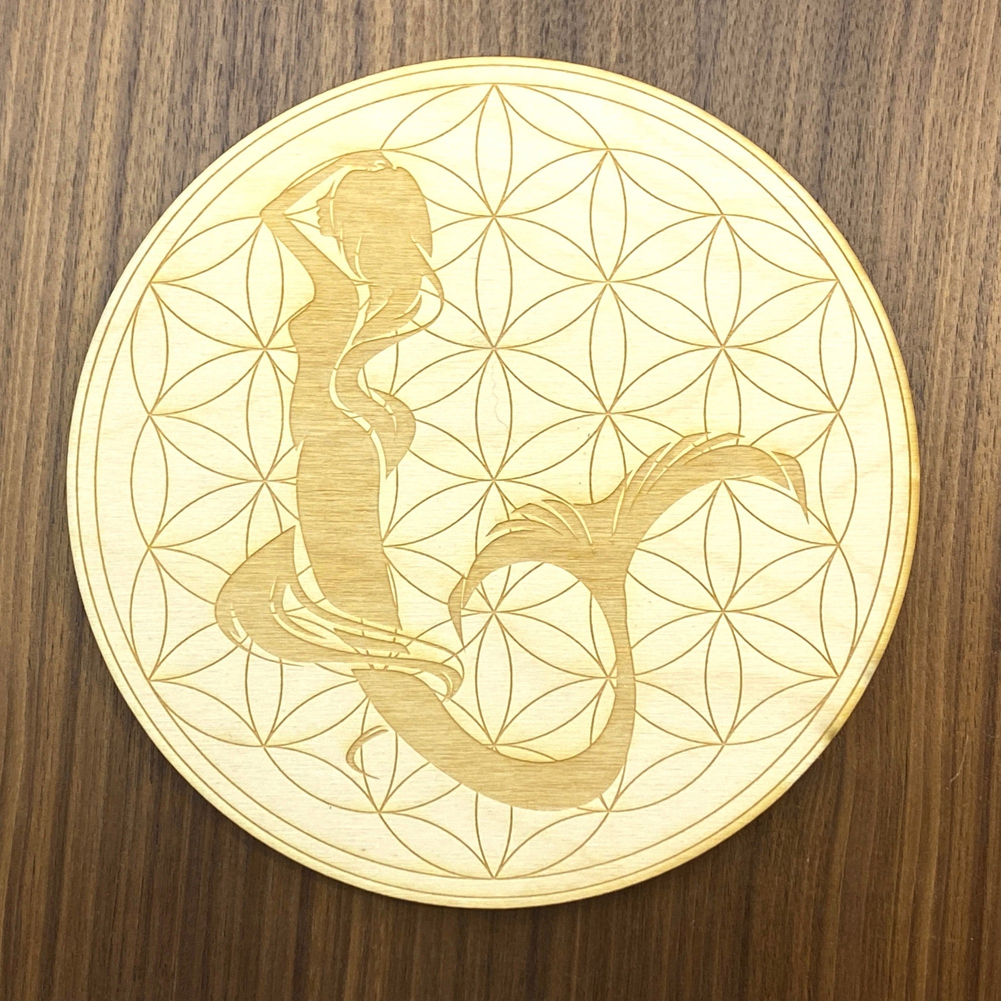 Mermaid Flower of Life Crystal Grid