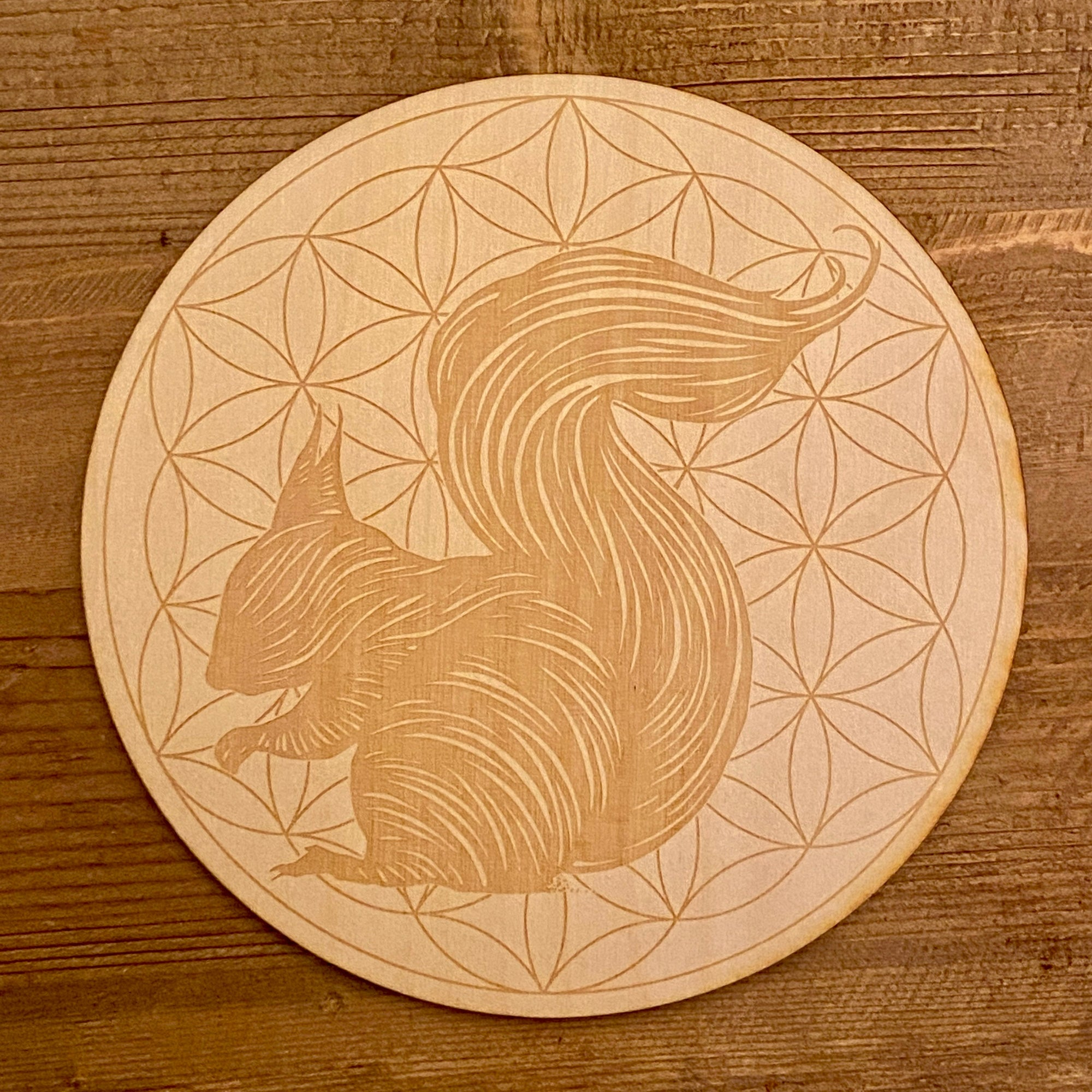 Squirrel Flower of Life Crystal Grid