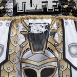 TUFF Muay Thai Boxing Shorts Gladiator White Ancient Roman Gladiator Armor