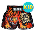 TUFF Kids Shorts Black Retro Style With Cruel Tiger TUF-KRS303