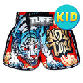 TUFF Kids Shorts Red Retro Style With Cruel Tiger TUF-KRS303