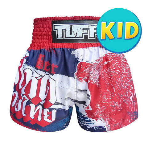 TUFF Kids Shorts Navy Blue Furious Bear