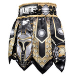 TUFF Muay Thai Boxing Shorts Gladiator Black Ancient Roman Gladiator Armor
