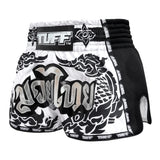 TUFF Muay Thai Boxing Shorts New Retro Style The Great Hongsa White