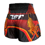 TUFF Muay Thai Boxing Shorts Black With Double Tiger