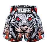 TUFF Muay Thai Boxing Shorts Grey Cruel Tiger