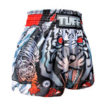 TUFF Kids Shorts Grey Traditional Style Cruel Tiger