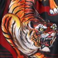 TUFF Muay Thai Boxing Shorts Black With Tiger Inspired by Chinese Ancient Drawing