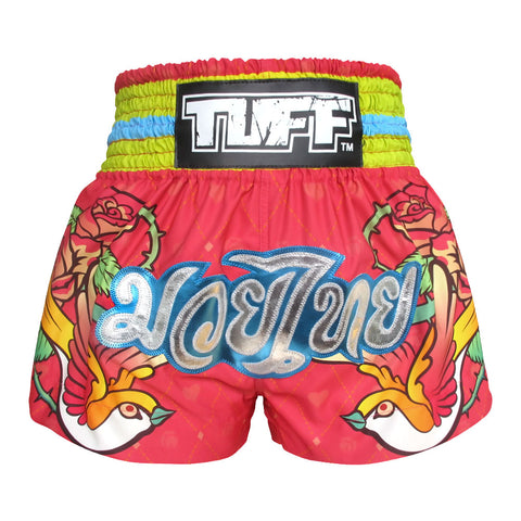 TUFF Muay Thai Boxing Shorts Classic Rose Pink