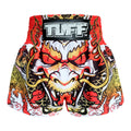 TUFF Muay Thai Boxing Shorts Dragon King in White