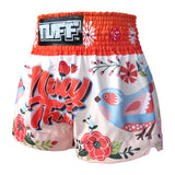 TUFF Kids Shorts Orange Pastel Birds Pattern